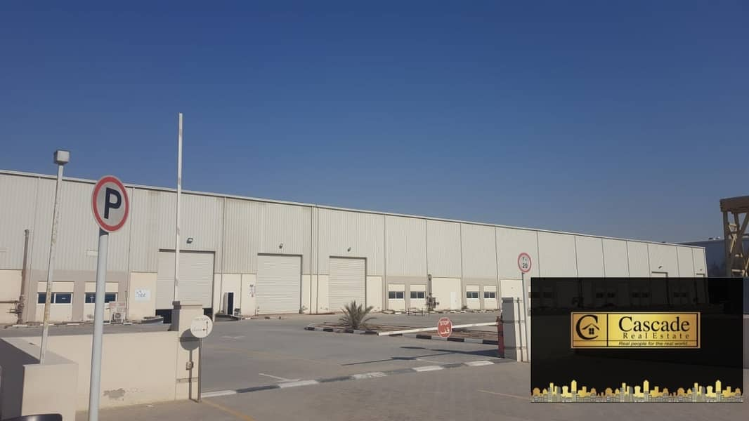DIC : INDUSTRIAL WAREHOUSE ON PLOT SIZE OF 404608SQFT