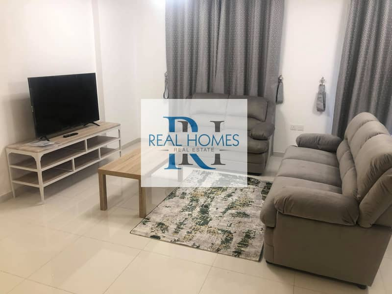 Furnished 1 Bedroom with Balcony! Parking !  Monthly 4500