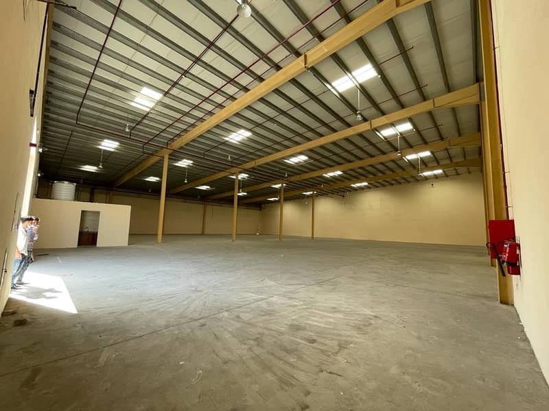Brand New Warehouse For Rent 18400 SQRF Rent Yearly 380000 Electricity 60 kw