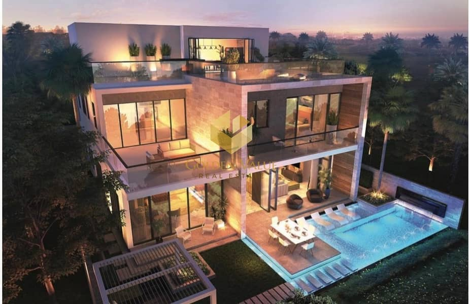 Great Offer/Melrose Luxury Golf Front Lake 5 Bed Villas With 4 years payment plan
