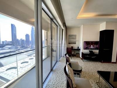 فلیٹ 1 غرفة نوم للايجار في وسط مدينة دبي، دبي - All Inclusive | Direct access to Dubai Mall | Burj views