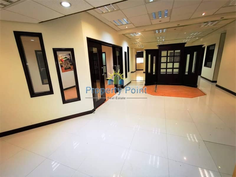 225 SQM Fitted Office Space for RENT | Great Location along Hamdan Street