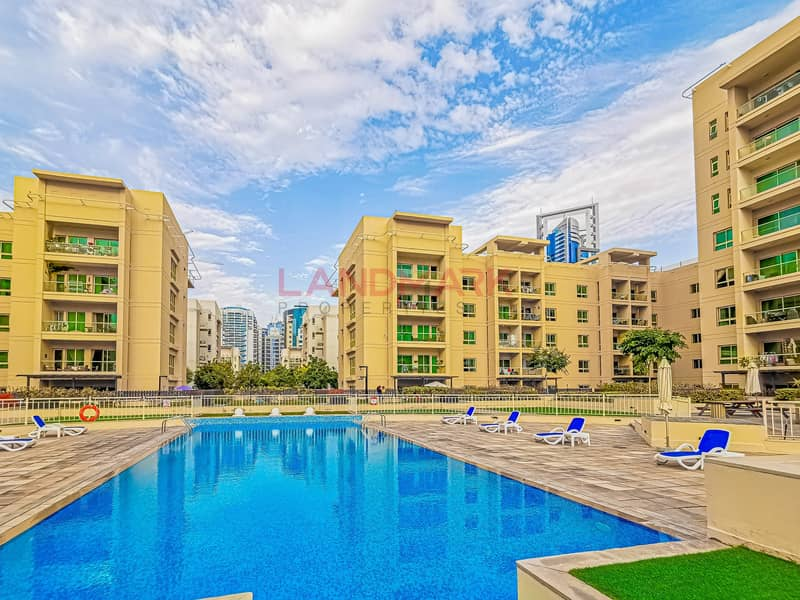 29 2BR on top floor | Corner balcony with pool and city view | Parking | Pool | Gym | Kids Play areas