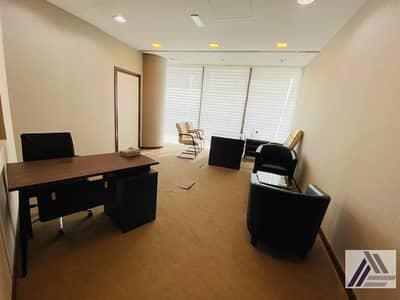 مکتب  للايجار في بر دبي، دبي - Royal Class | Fully Furnished | Serviced Office with high floor view |Linked with Mall and Metro