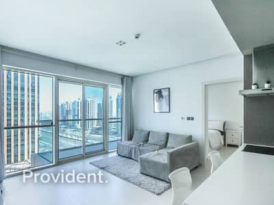 1 Bedroom Flat for Rent in Dubai Marina, Dubai - Partial Marina View | Fully Furnished | High Floor