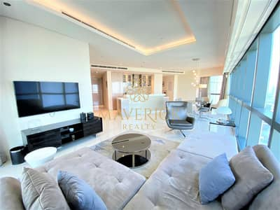 3 Bedroom Apartment for Rent in Business Bay, Dubai - Panoramic View | Furnished 3BR+Maids/R | Highest Floor