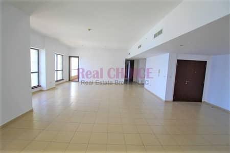 فلیٹ 4 غرف نوم للايجار في جميرا بيتش ريزيدنس، دبي - Full Panoramic Sea View Bright Must View