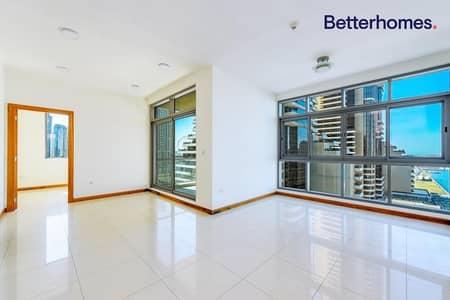 شقة 2 غرفة نوم للايجار في دبي مارينا، دبي - Sea view apartment with big balcony in Iris Blue