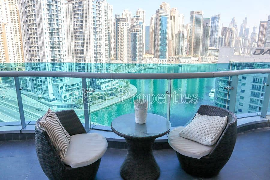 2 Stunning full Marina view| Fully Furnished|