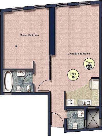For Sale - Fully Furnished 1 Bedroom Front JLT Metro Station