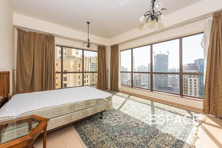 2 Bedroom Apartment for Rent in Jumeirah Beach Residence (JBR), Dubai - Furnished Big Unit | Marina View | Vacant