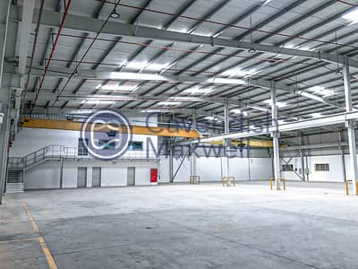 Warehouse for Rent in Jebel Ali, Dubai - Multi Purpose Warehouses with Cranes | Brand New