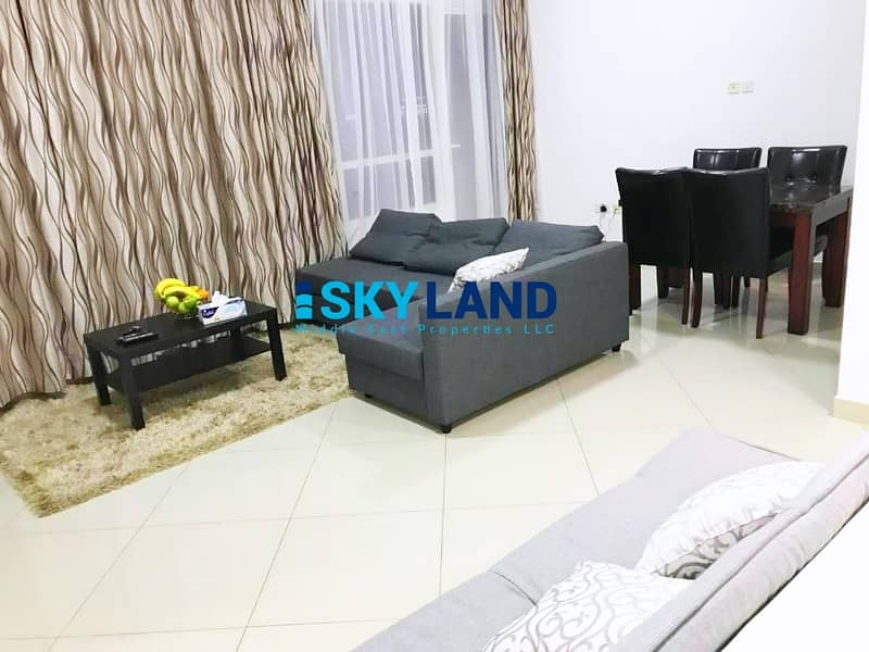 2 Fully Furnished 1BR with Lake and Pool View ! 1 FREE Parking