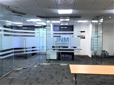 مکتب  للايجار في أبراج بحيرات الجميرا، دبي - Glass Partitioned Office | Higher Floor | Saba 1