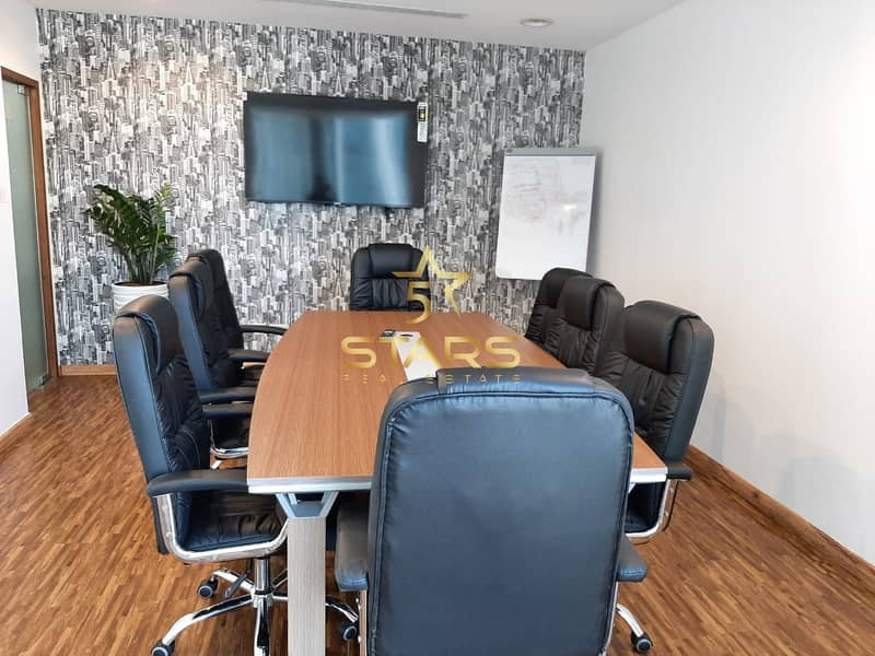 11 No Commission!! Separate Furnished Office in The Regal Tower - business bay