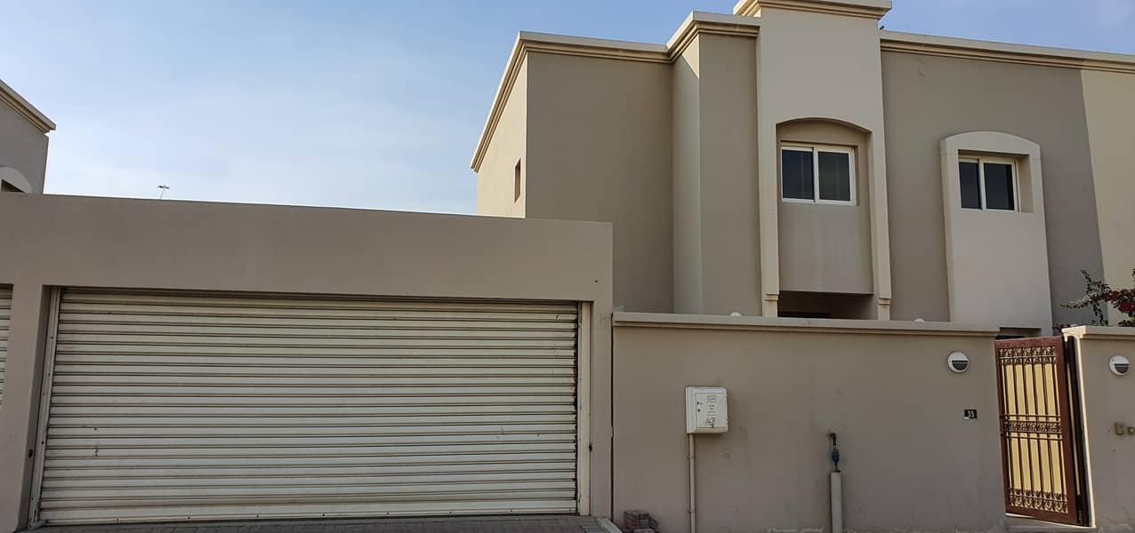 Modern design*The most luxury 4bedroom+maidsroom villa 4500sqft rent 85k in 4chqs in al barashi area