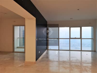 3 Bedroom Apartment for Rent in Al Reem Island, Abu Dhabi - Three Plus Maids W/Balcony Marina View