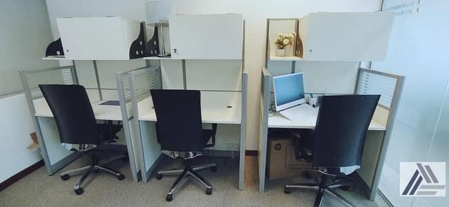 مکتب  للايجار في بر دبي، دبي - Co Working space | Flexi Desk office only Aed 7500/-yearly All inclusive| linked with metro and Mall