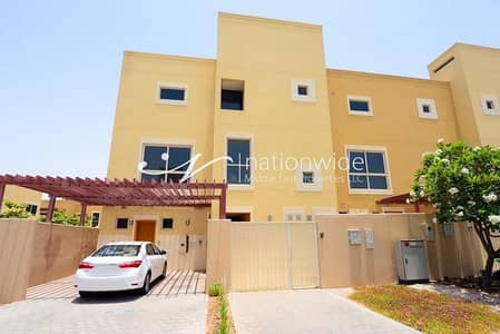 4 Bedroom Townhouse for Sale in Al Raha Gardens, Abu Dhabi - Impressive Townhouse Type A with Spacious Garden