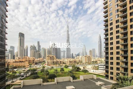 فلیٹ 3 غرف نوم للايجار في وسط مدينة دبي، دبي - Burj Khalifa View | Spacious Living | Chiller free