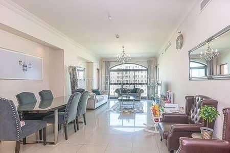 فلیٹ 2 غرفة نوم للايجار في نخلة جميرا، دبي - Upgraded | 2+M BR | High Floor | Park and Sea View