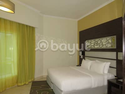 1 Bedroom Hotel Apartment for Rent in Dubai Production City (IMPZ), Dubai - Discounted and affordable price for One Year available At Ghaya Grand Hotel