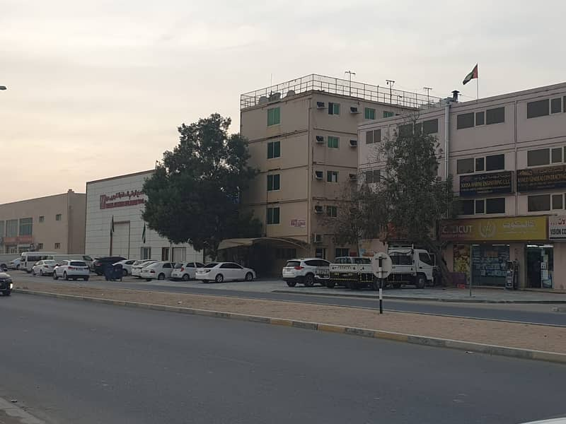 For rent a ground building and four for workers housing consisting of 46 rooms.
