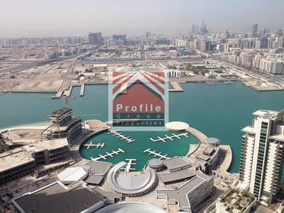 2 Bedroom Flat for Rent in Al Reem Island, Abu Dhabi - Exquisite Marina View | Available Now | Balcony