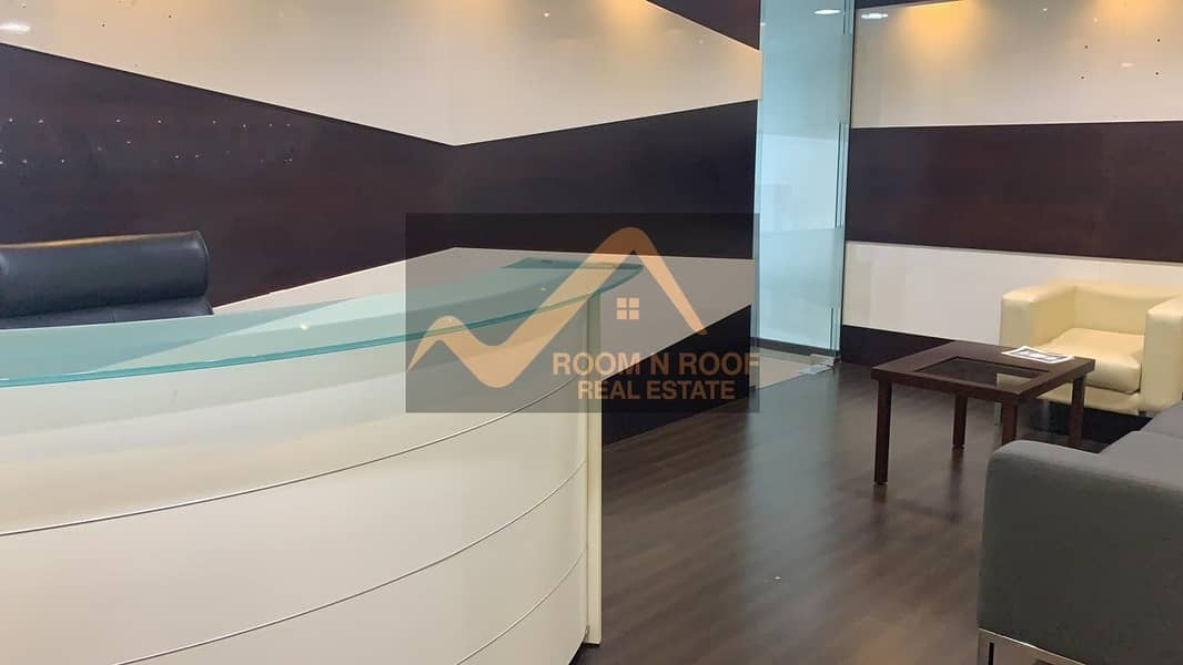Bright Fully Furnished Office For rent in Fortune tower