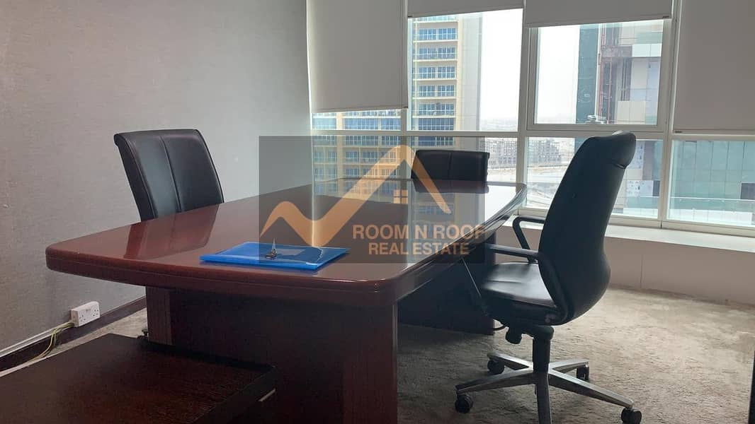 2 Bright Fully Furnished Office For rent in Fortune tower