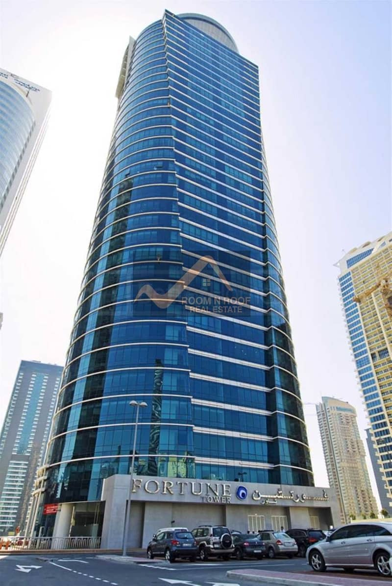 10 Bright Fully Furnished Office For rent in Fortune tower