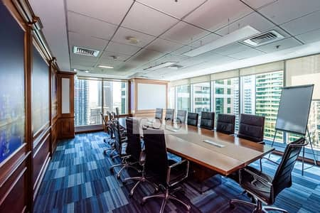 Office for Rent in Jumeirah Lake Towers (JLT), Dubai - Fitted and Fully Furnished | 8 Carparks