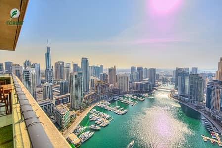 فلیٹ 2 غرفة نوم للايجار في دبي مارينا، دبي - Vacant | 2BR with Full Marina View |Unfurnished