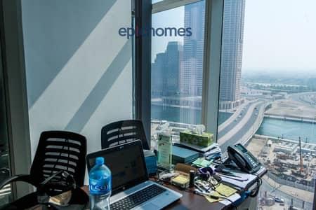 مکتب  للبيع في الخليج التجاري، دبي - Fully Fitted Office | High Floor | Canal view