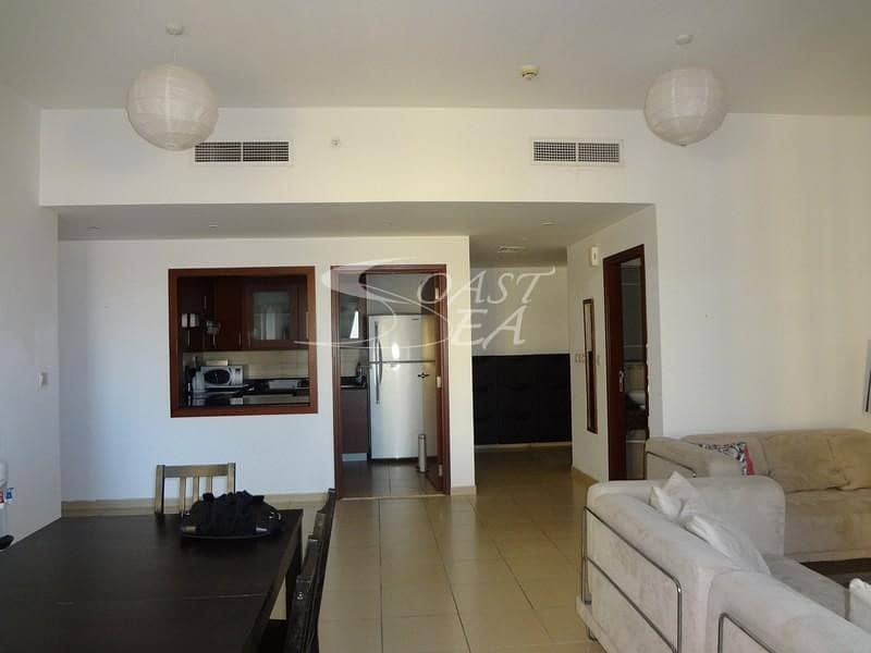 2 Sea view fully furnished 2 BR in Sadaf 7