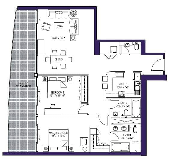 10 Two Bedrooms | High Floor | Skyline View