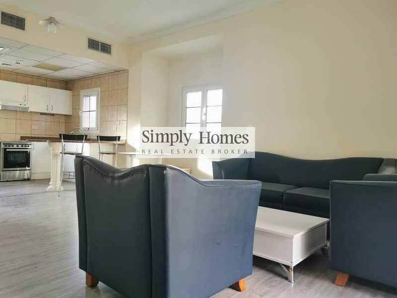 2 Furnished / One Bed / Pool View