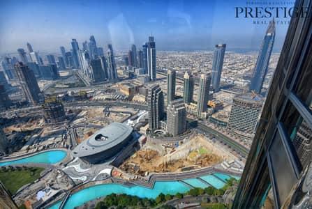 فلیٹ 2 غرفة نوم للايجار في وسط مدينة دبي، دبي - Exclusive 2Bed  Sea View   Burj Khalifa   58 Floor