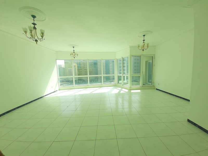 50 Days Free AC Free Spacious 3BHK Apartment Balcony Open View  with Health Club at Buhairah