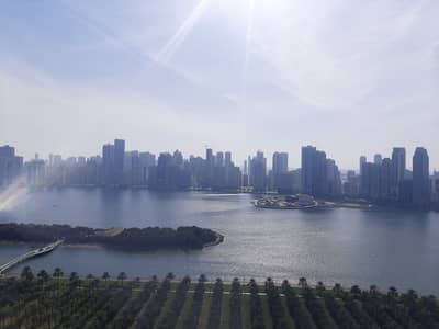 3 Bedroom Flat for Rent in Corniche Al Buhaira, Sharjah - Luxurious 3BR all Master Free AC with Health Club and Parking
