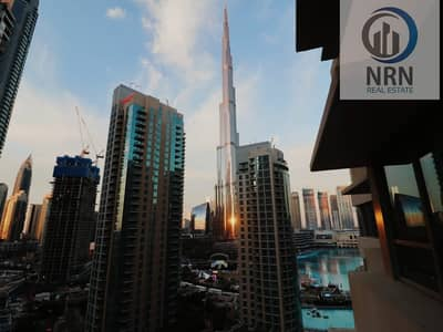 2 Bedroom Flat for Rent in Business Bay, Dubai - Vacant 2 BR With Burj & Fountain View And Large Balcony