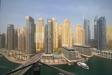 1 Bedroom Apartment for Rent in Dubai Marina, Dubai - marina view     Balcony   Big Layout