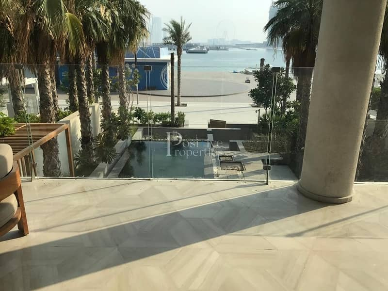 2 PRIVATE POOL|BEACH FRONT|FULLY FURNISHED|TOWNHOUSE