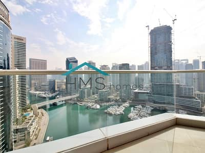 فلیٹ 2 غرفة نوم للايجار في دبي مارينا، دبي - Full Marina View - 2 Bedroom - Aurora Tower - Top Floor Unit