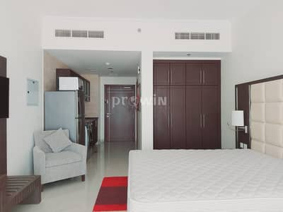 Studio for Rent in Arjan, Dubai - Elegant Studio Apartment | Miracle Garden Views |Fully Furnished |  Upto 12 cheques!!!