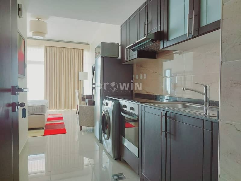 2 Elegant Studio Apartment   Miracle Garden Views  Fully Furnished    Upto 12 cheques!!!