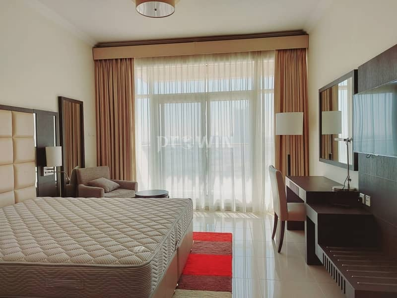 17 Elegant Studio Apartment   Miracle Garden Views  Fully Furnished    Upto 12 cheques!!!