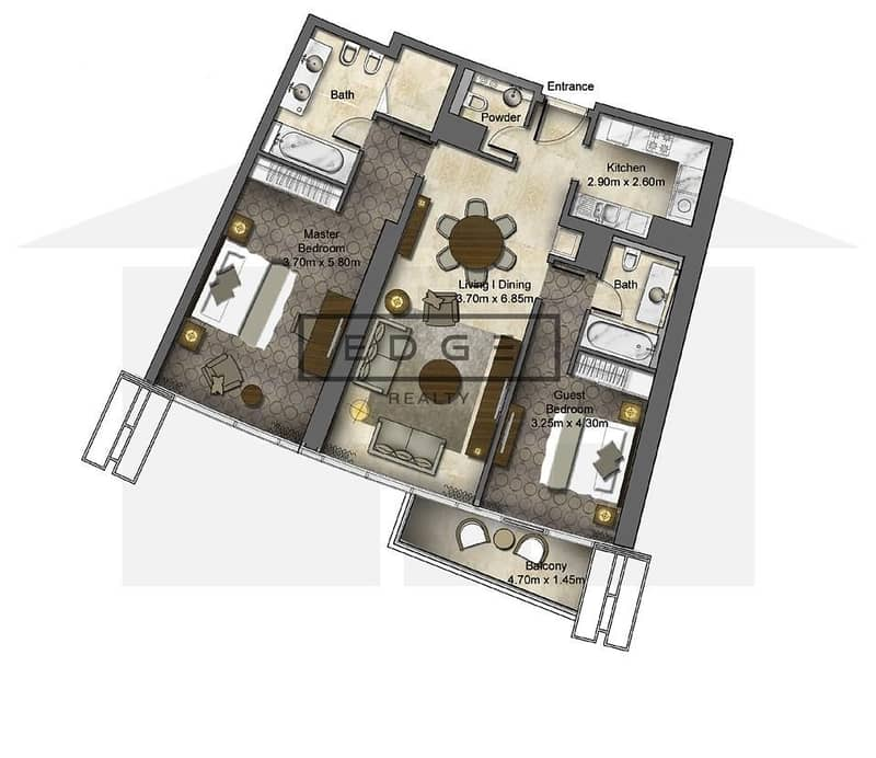 10 FULL BURJ VIEW | LUXURY 2 BEDS | ALL BILLS