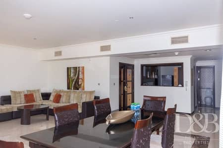 3 Bedroom Flat for Rent in Jumeirah Beach Residence (JBR), Dubai - Fully Furnished  | Community View | Vacant