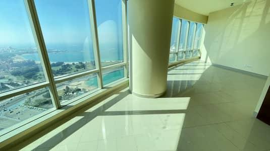 شقة 3 غرف نوم للايجار في منطقة الكورنيش، أبوظبي - Sea View No Commission: Luxurious 3 BEDS with a Wonderful Sea View